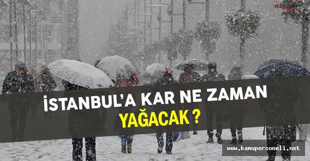 İstanbul'a Yoğun Kar Yağışı Uyarısı Yapıldı !