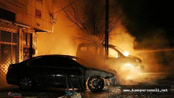 İstanbul'da 17 Araç Kundaklandı