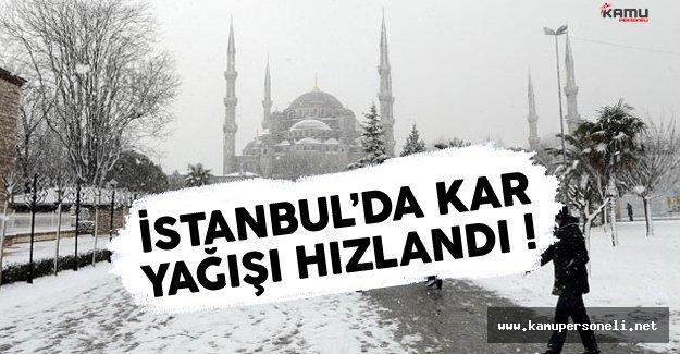 İstanbul'da Kar Yağışı Yeniden Hızlandı