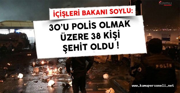 İstanbul'daki Patlamada Şehit Sayısı Yükseliyor ! ( 30'u Polis 38 Kişi Şehit Oldu )