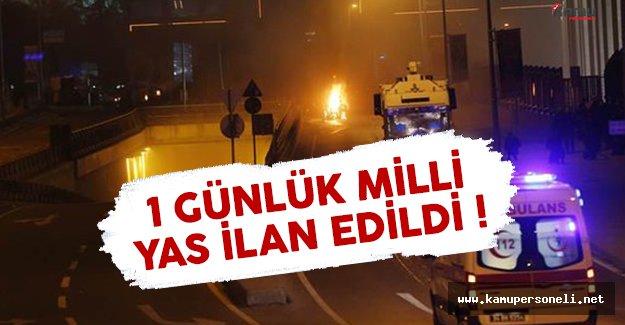 İstanbul saldırısı nedeniyle 1 gün milli yas ilan edildi