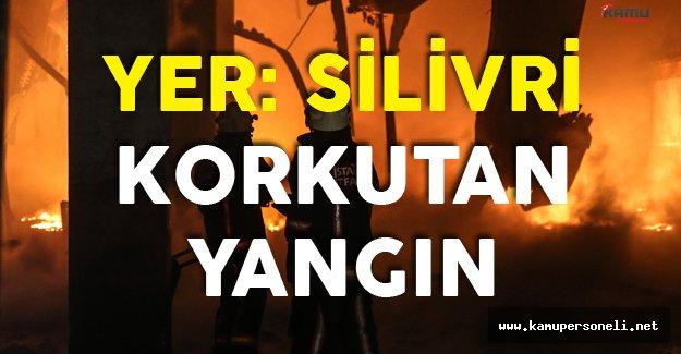 İstanbul Silivri'de Korkutan Fabrika Yangını
