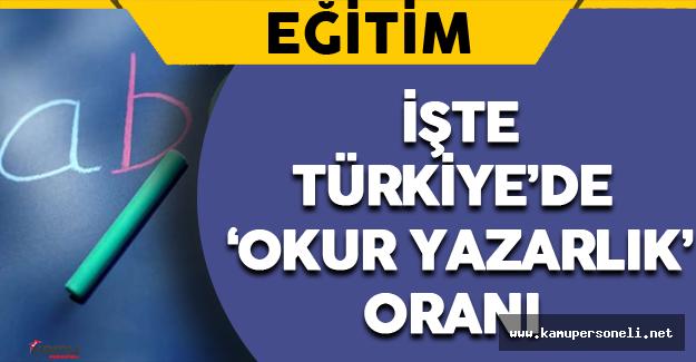 İşte Türkiye'de 'Okur Yazarlık' Oranı