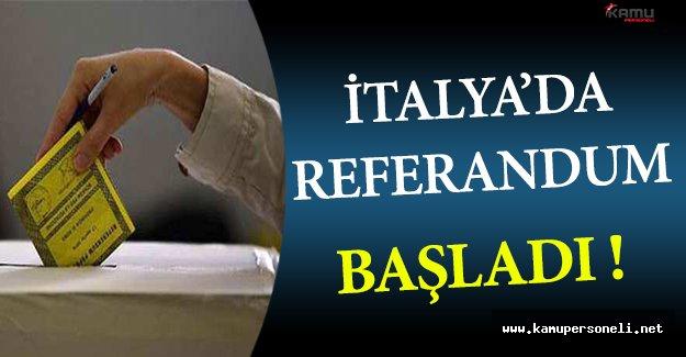 İtalya'da Referandum Başladı