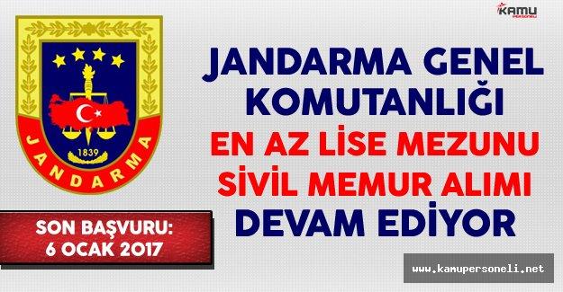 Jandarma Genel Komutanlığı En Az Lise Mezunu Sivil Memur Alımı Devam Ediyor (Kimler Başvurabilir?)