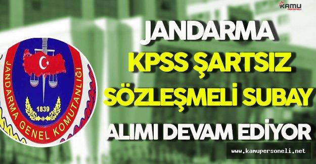 Jandarma Genel Komutanlığı KPSS Şartsız Sözleşmeli Subay Alımı Devam Ediyor