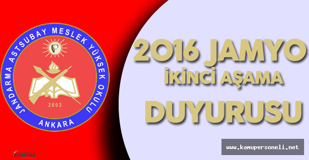 Jandarma Genel Komutanlığı'ndan ' 2016 JAMYO Seçme Sınavı Duyurusu'