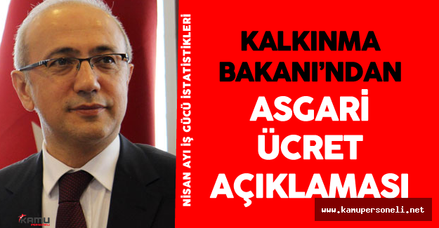 Kalkınma Bakanı Lütfi̇ Elvan'dan Asgari Ücret Açıklaması !