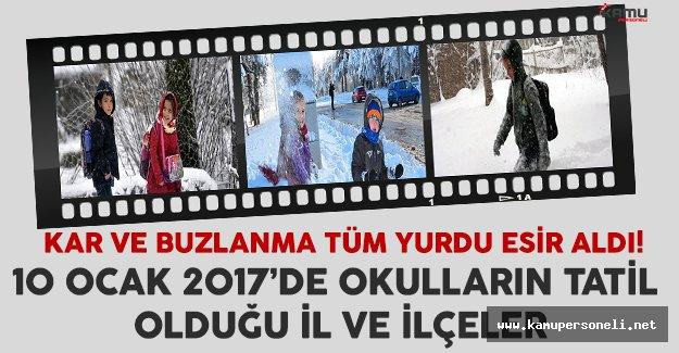 10 Ocak'ta birçok ilde ve ilçede okullar tatil olacak