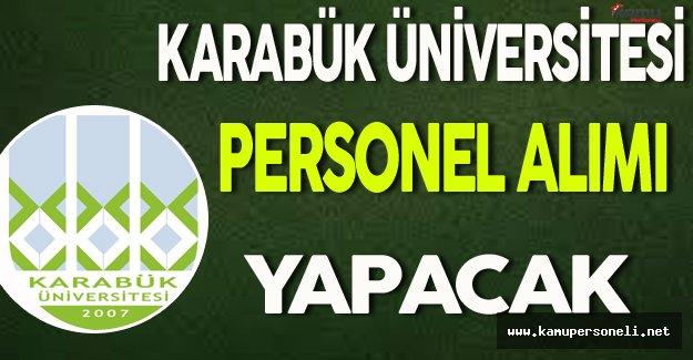 Karabük Üniversitesi Personel Alımı Yapacak