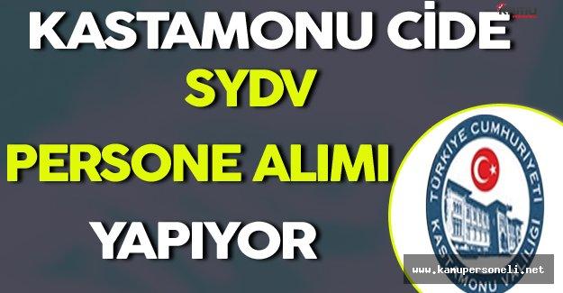 Kastamonu Cide SYDV Personel Alımı Yapıyor