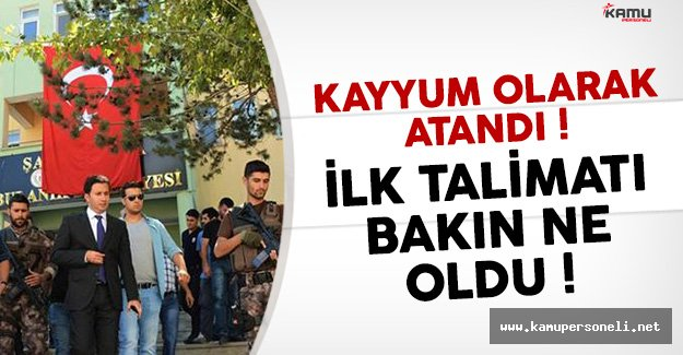 Kayyum Olarak Atanan Belediye Başkanı Ömer Şahin'in İlk Talimatı