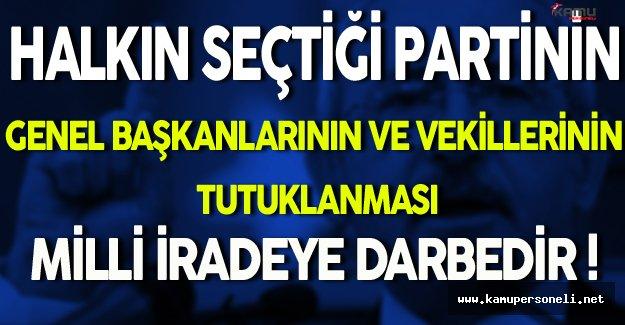 Kemal Kılıçdaroğlu: Bu Milli İradeye Darbedir !