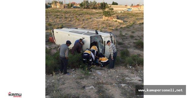 Konya'da Minibüs Devrildi Çok Sayıda Yaralı Var