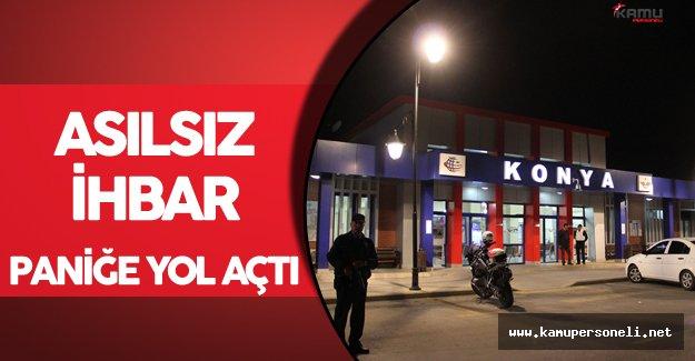Konya'da Terör Alarmı ! Şüpheli Çanta İhbarı Asılsız Çıktı