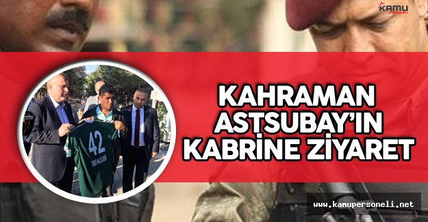 Konyaspor Başkanı ve Yönetim Kurulu Kahraman Astsubayın Kabrini Ziyaret Etti