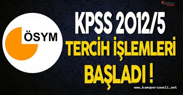 KPSS 2012/5 Tercihleri Başladı