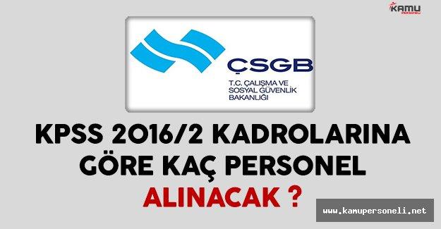 KPSS 2016/2 Kadroları Kapsamında Çalışma Bakanlığı Kaç Personel Alacak ?