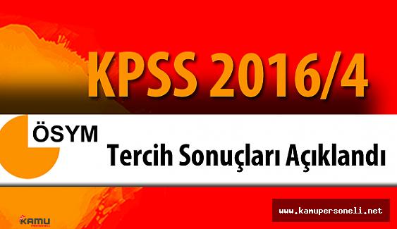 KPSS 2016/4 Gıda Tarım ve Hayvancılık Bakanlığı (GTHB) Yerleştirme Sonuçları Açıklandı