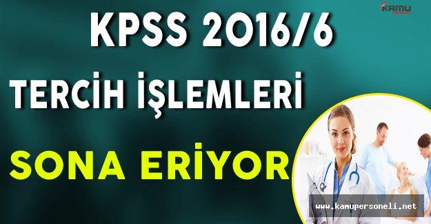 KPSS 2016/6 Tercih İşlemleri Sona Eriyor !