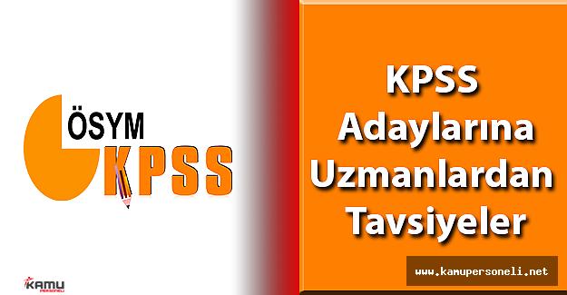 KPSS Adaylarına Uzmanlardan Önemli Uyarılar