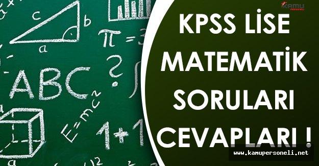 KPSS Ortaöğretim/Lise 2016 Matematik Soru,Cevap ve Yorumları (Kolay Mıydı, Zor Muydu?)
