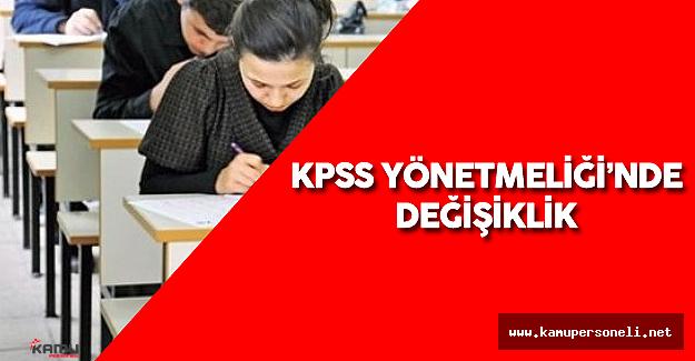 KPSS Yönetmeliğinde Değişiklik Yapıldı