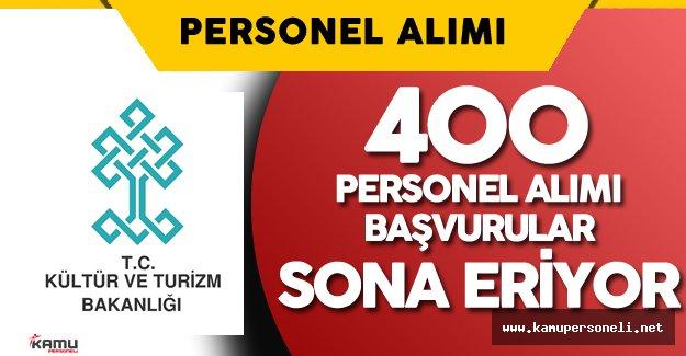 Kültür Bakanlığı 400 Personel Alımı için Başvurular Sona Eriyor