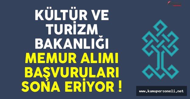 Kültür ve Turizm Bakanlığı 20 memur alımı ilanı için başvurular sona eriyor