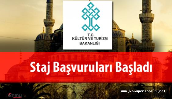 Kültür ve Turizm Bakanlığı Staj Başvuruları Başladı