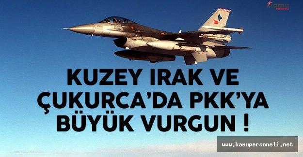 Kuzey Irak'ta Terörist Hedefleri İmha Edildi !