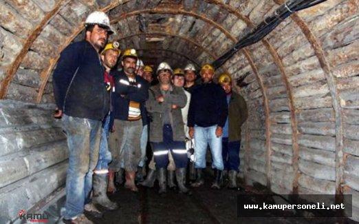 Maden İşçileri Madenden Çıkmama Kararı Aldı