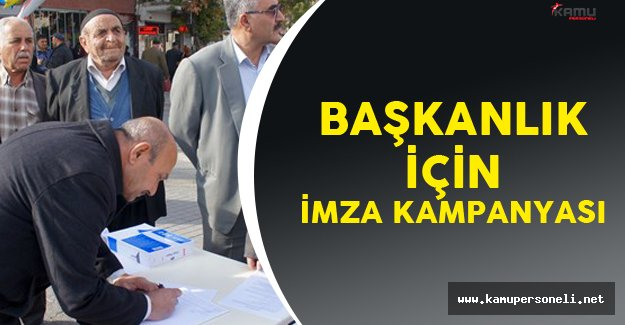 Malatya'da Başkanlık Sistemi için İmza Kampanyası