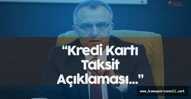 Maliye Bakanı Ağbal'dan Kredi Kartı Taksit Açıklaması