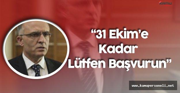 """Maliye Bakanı'ndan Borcu Olan Vatandaşa Çağrı : """"31 Ekim'e Kadar Gelin Lütfen Başvurun"""""""
