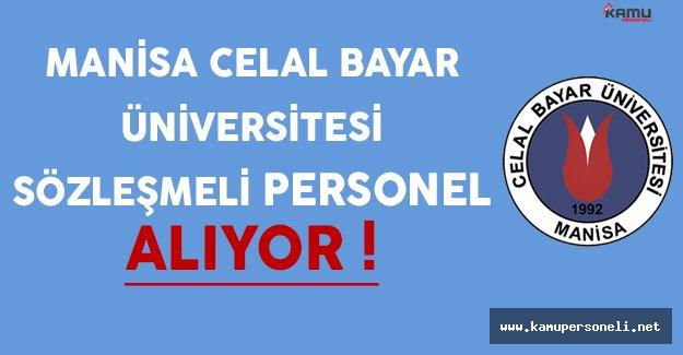 Manisa Celal Bayar Üniversitesi Sözleşmeli Personel Alım İlanı