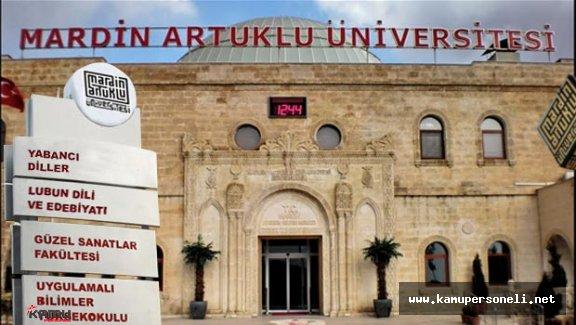 Mardin Artuklu Üniversitesi Akademik Personel Alımı
