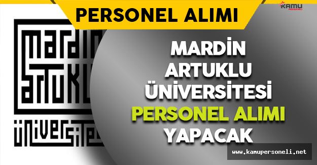 Mardin Artuklu Üniversitesi Personel Alımı Yapacak