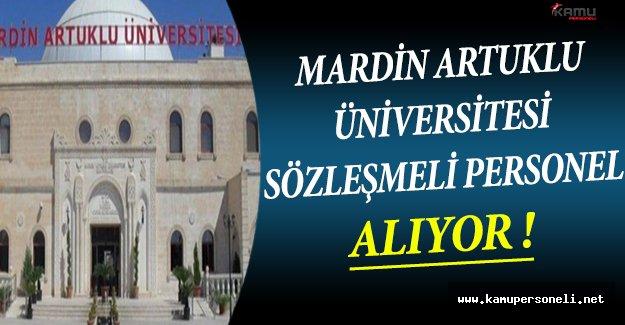 Mardin Artuklu Üniversitesi Sözleşmeli Personel Alıyor !