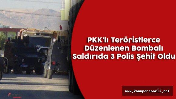 Mardin'de Teröristlerce Bombalı Saldırı Düzenlendi ( 3 Polis Şehit Oldu )