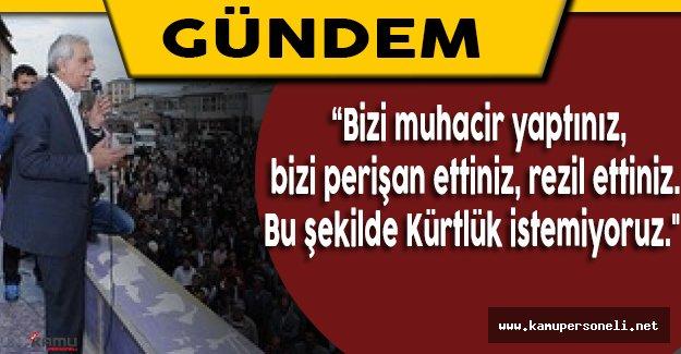 Mardin'de Vatandaşlar Ahmet Türk ve Mehmet Ali Aslan'a Tepki Gösterdi