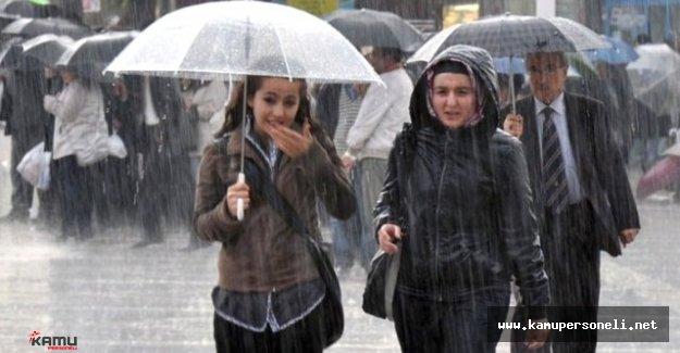 Marmara Bölgesinde Bu Geceden İtibaren Kuvvetli Sağanak Uyarısı Yapıldı