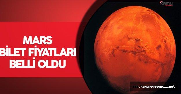 Mars Bilet Fiyatları Belli Oldu !(Gidiş Dönüş Bileti Alınamıyor)