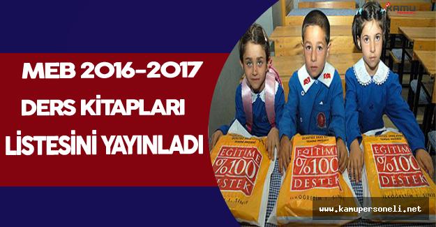 MEB 2016-2017'de Okutulacak Ders Kitapları Listesini Yayınladı