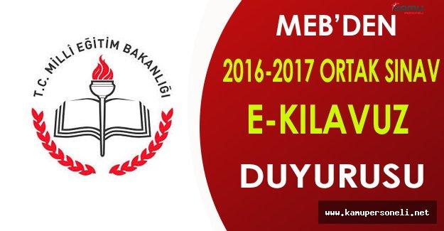 MEB 2016-2017 TEOG Ortak Sınav e-Kılavuzunu Yayınladı