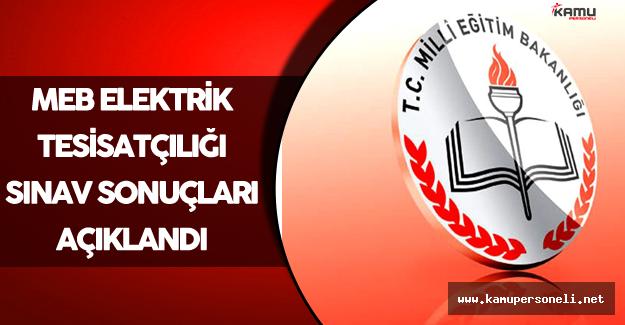 MEB Elektrik Tesisatçılığı Sınav Sonuçları Açıklandı !
