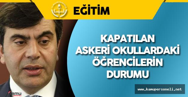"""MEB Müsteşarı Yusuf Tekin: """"Kapatılan Askeri Okullardaki Öğrenciler Tercihlerine Göre Yerleştirilecek"""""""