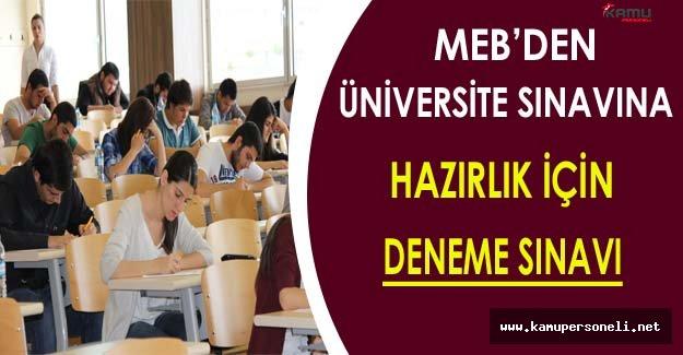 MEB Üniversite Sınavına Hazırlanan Öğrenciler İçin Deneme Sınavı Yayınladı