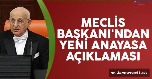 Meclis Başkanı Kahraman'dan yeni anayasa açıklaması