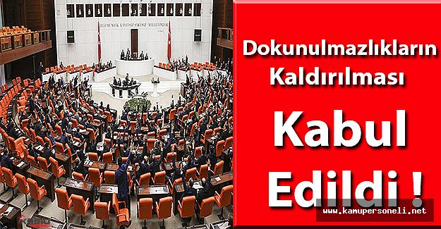 Meclis Kararını Verdi Dokunulmazlıkların Kaldırılması Kabul Edildi